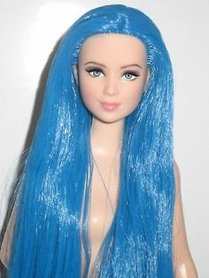 Barbie Doll Fashion Fever Blonde Hair Mackie Face Blue Eyes Nude OOAK