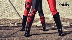 #stiligestøvler #støvler #gummistøvler #rainboots #harleyquinn cosplay rubber boots