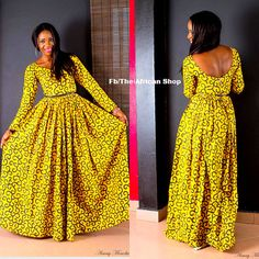SunShine Maxi Dress by THEAFRICANSHOP on Etsy