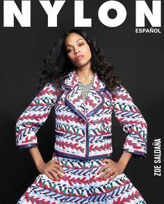 Zoe Saldana for Nylon Espanol's Summer Collector's Issue. She's wearing Jessica Cosmetics in Custom Colour, Runway Ready. #zoesaldana #redpolish #magazinecover #nylonespanol #nylonmagazine #celebritynails #rednails