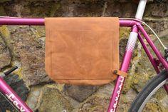 Leather bike bag / bicycle frame bag shoulder bag Bikegab