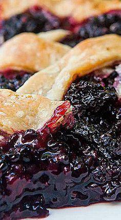 The best blackberry pie EVER. No kidding! All butter crust