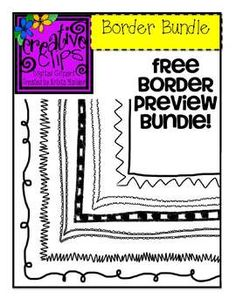 Free set of borders from Creative Clips by Krista Wallden! Personal and Commercial use allowed.