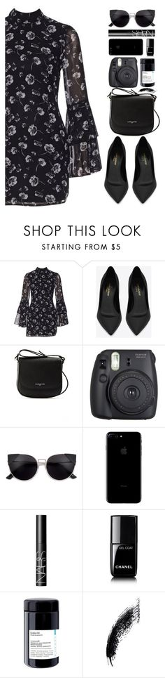 """Untitled #498"" by cherryprincessannie ❤ liked on Polyvore featuring Yves Saint Laurent, Lancaster, Fuji, NARS Cosmetics and Chanel"