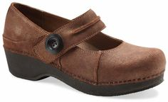 The Dansko Crepe Maryjane from the Stapled Clog collection.