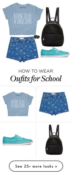 """back to school"" by mariami-princess2013 on Polyvore featuring Valentino, Vans, STELLA McCARTNEY and Versace"