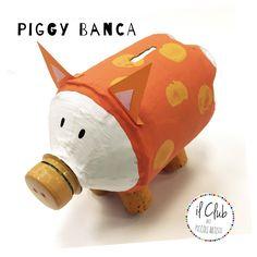 Recicled work, la bottiglia del tè, con la tecnica della carta pesta si trasforma in...Piggy banca! Fb: clubdeipiccoliartisti  clubdeipiccoliartisti@yahoo.it