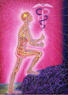 sacredgeometry-art:  Wounded Healer - Alex Grey - Website