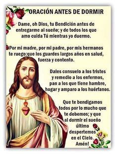 Night Prayer Catholic, Catholic Prayer For Healing, Catholic Prayers In Spanish, Good Night Prayer, Good Night Blessings, Spiritual Prayers, Prayers For Healing, Faith Prayer, God Prayer