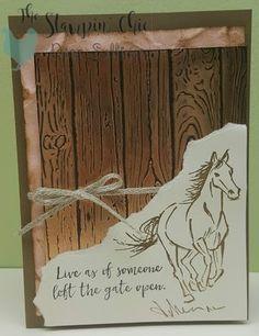 Открытка своими руками с лошадью
