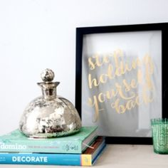 Super customizable, gilded gold art for your home.  Printable for this version available.