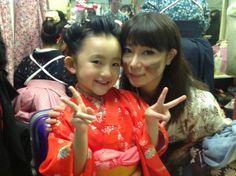 【 こころ - Kokoro 】幕末の山本八重役の安藤志穂美さんと (o^^o) 舞台でずっとキラキラしてました。