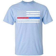 U.S.A. Redline/Blue Line Tee Gildan Ultra Cotton T-Shirt