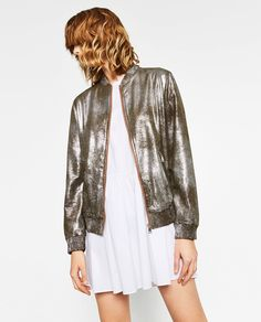 ZARA - WOMAN - METALLIC BOMBER JACKET