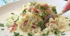 Du poulet, beaucoup de bacon et sauce crémeuse Alfredo... Les rouleaux de lasagne revisités Sauce Crémeuse, Circuit, Potato Salad, Bacon, Potatoes, Pasta, Ethnic Recipes, Food, Rice