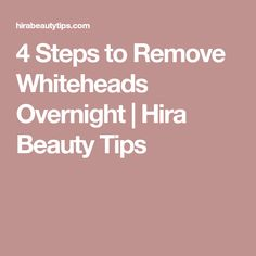 5 Ways to Get Rid of Pimples Overnight Hira Beauty Tips
