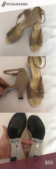 Very Fine Ballroom Low Heel Worn once. Rubberized. Classic clip fastener. Very Fine Shoes Heels