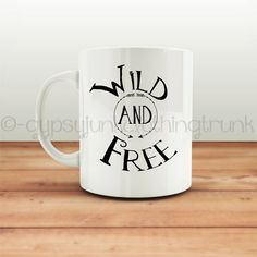 Wild and Free Mug - Hippie Mug - Quote Mug - Arrow Print Mugs - Gypsy Coffee Cup - Gypsy Coffee Mug - Hippie Coffee Mug - Hippie Cup by GypsyJunkClothing