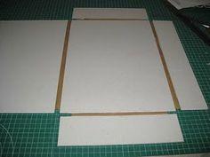 PASO A PASO DE CARPETA CON SOLAPAS Notebook Binder, Diy Notebook, Art Portfolio Case, Ideas Paso A Paso, Diy Storage Projects, Fabric Covered Boxes, Scrapbook Box, Paper Art, Paper Crafts