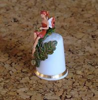 Thimble- Sterling Classic - Autumn Flower Fairy - Fine Bone China
