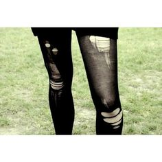 Ripped Tights ❤ liked on Polyvore featuring intimates, hosiery, tights, ripped tights and ripped stockings