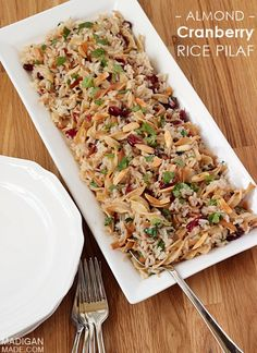 16) Almond Cranberry Rice Pilaf