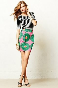 Legend & Song Dutch Wax Mini Skirt #anthropologie // this is exactly how I would wear it
