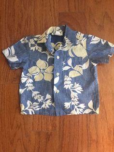 Vintage Rare KAHALA little boys tiki tropical hibiscus Hawaiian Shirt-size 3 #Kahala #Hawaiian #Casual