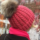 Freedom and cables hat - free knitting pattern from felinity knits4