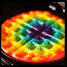 waffles...Tye dye!