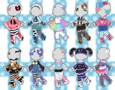 Cartoon Drawing Ideas Mix Outfit Adopts (closed) by Horror-Star - Kawaii Drawings, Cartoon Drawings, Cute Drawings, Fashion Design Drawings, Fashion Sketches, Drawing Anime Clothes, Drawing Base, Drawing Tips, Drawing Ideas