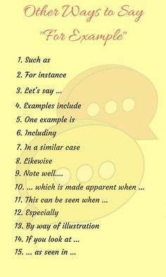 """Need a replacement for """"for example""""? here are plenty of other ways to say this common transition phrase. Essay Writing Skills, Book Writing Tips, English Writing Skills, Learn English Grammar, English Vocabulary Words, Learn English Words, English Phrases, English Idioms, English Language Learning"""