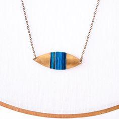 Boho tribal Pendant  blue ombre thread wrapped by TrincarUvas, $25.00