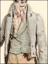 Striped Regency waistcoat fashionplate.