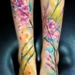 coolTop Watercolor tattoo - Foot Tattoos for Girls