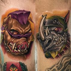 Bebop and Rocksteady Tattoos