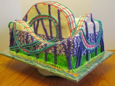 3d roller coaster cake for VBS 2013 Colossal Coaster
