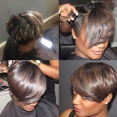 Silky Pixie via @alstyling - Black Hair Information