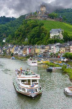 Marksburg Castle above the Rhine River, Germany