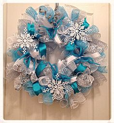 Frozen Snowflake Turquoise and Silver Deco by CKDazzlingDesign
