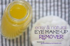 "Heather has graciously allowed me to share her natural, gentle Eye Make-Up Remover recipe that only has TWO ingredients...just two! And works better than any of the ""magical elixirs"" you can buy at the store."