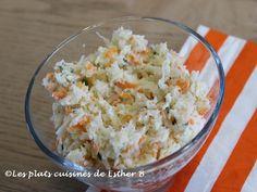 Les plats cuisinés de Esther B: Salade de chou crémeuse Esther, Cold Food, Cold Meals, Mets, Grains, Creamy Coleslaw, Sprouts, Salads, Kitchens