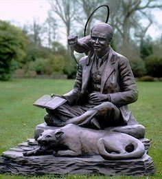 Marston, Vanessa - Rudyard Kipling (w Ape & Bagheera) [Bronze Sculpture]