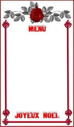 Cartes Menu Etiquettes Noel 1