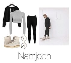 """""""Cold day with Namjoon"""" by infires-jhope on Polyvore featuring Boohoo, WearAll and Timberland"""