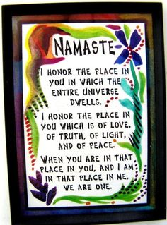 Namaste - your perfect place to wind down and relax