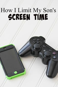 How I Limit My Son's Screen Time