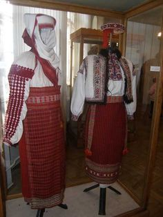 Embroidered folk dress from the Ivano-Frankivsk region.