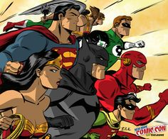 JLA NYCC EXCLUSIVE print by ~DaveBullock on deviantART
