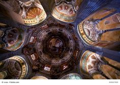 The ceiling of Basilica of San Vitale, Ravenna, Italy - This wonderful church, built in the Byzantine architectural style, is best known for its mosaics. The church is on the UNESCO World Heritage List and it is one of the landmarks of the city.